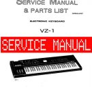 CASIO VZ-1 VZ1 SYNTHESIZER ** SERVICE MANUAL **