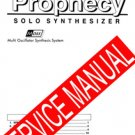 KORG PROPHECY  ** SERVICE MANUAL **