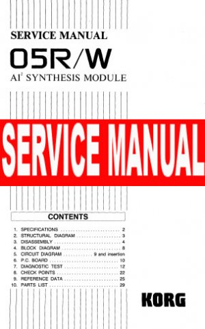 KORG 03RW 03R/W o3rw o3r/w ** SERVICE MANUAL **