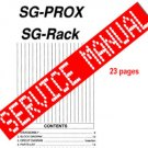 Korg SG-ProX / SG RACK Unit  ** SERVICE MANUAL **