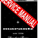 MARANTZ 2220B 2220-B RECIEVER - SERVICE MANUAL -