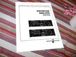 HP  Distortion Analyzer 331A / 332A Service/Op Manual