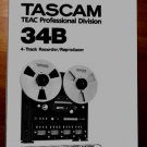 TASCAM 34B Reel-to-Reel Owner's - Instruction manual *