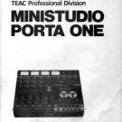 TASCAM MINISTUDIO PORTA ONE ORIGINAL  OWNERS MANUAL