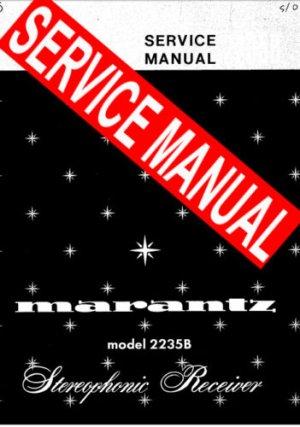 MARANTZ 2238 RECEIVER - SERVICE MANUAL -