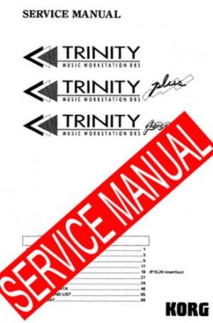 KORG TRINITY SERIES  (/ Plus, Pro) ** SERVICE MANUAL **