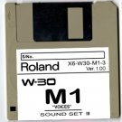 "M1 ""VOICES"" Sound Set for ROLAND W-30 W30"