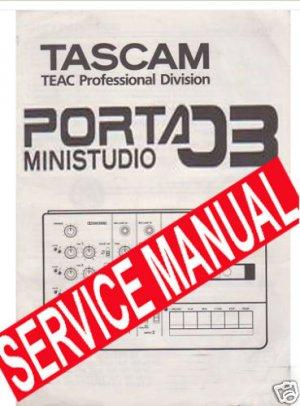 SERVICE MANUAL - TASCAM PORTA 03