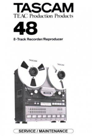 TASCAM 48 Reel ~ Repair / Service MANUAL ~ paper