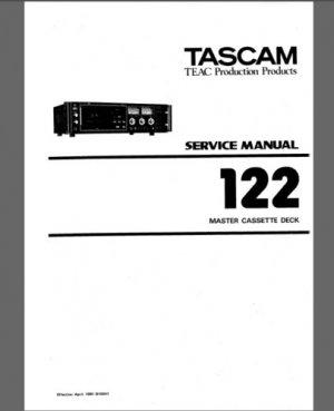 TASCAM 122 (Mki) REPAIR / SERVICE Manual w/ Schematics