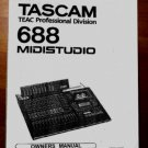 TASCAM MIDISTUDIO 688  * OWNERS MANUAL *