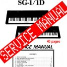 Korg SG-1 SG1 / SG-1D SG-1D ~  SERVICE MANUAL  ~