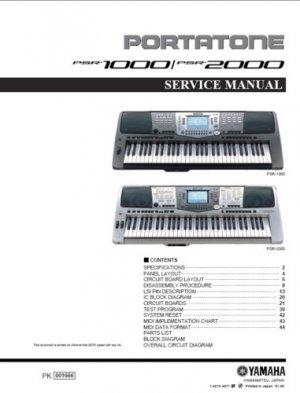YAMAHA Portatone PSR-1000  PSR1000 Service MANUAL