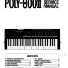 KORG POLY800II Poly-800 II ~ SERVICE  MANUAL *Paper