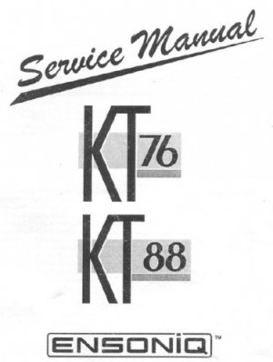 ENSONIQ KT76 KT-76 / KT88 KT-88 Repair / Service Manual