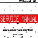 MARANTZ 2215B RECEIVER - SERVICE MANUAL -