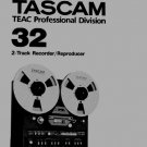 TASCAM 32B - Reel 2 track ~ Owner's manual * PAPER ! ~