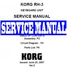 KORG  RH-3 RH3 Digital PIANO ~ REPAIR SERVICE MANUAL