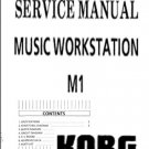 KORG M1 SYNTHESIZER ~  REPAIR / SERVICE MANUAL  --