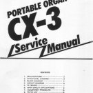 KORG  CX-3 CX3 Portable ORGAN REPAIR / SERVICE MANUAL