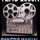 TEAC 2000R Reel-toReel Op Manual -  Paper!