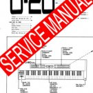 ROLAND U20 / U-20 SYNTHESIZER REPAIR / SERVICE MANUAL