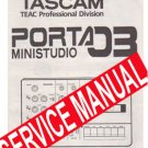 TASCAM PORTA 03  ~ REPAIR / SERVICE MANUAL -