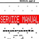 MARANTZ 2275 RECEIVER ~ SERVICE MANUAL -
