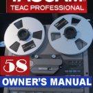 INSTRUCTIONS OWNER'S MANUAL for TASCAM 58 -8 trackREEL