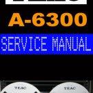 TEAC  A6300 A-6300 / A6100 A-6100  ~ Service Manual ~