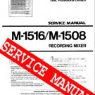 REPAIR / SERVICE  MANUAL for TASCAM M-1516 M-1508 Mixer