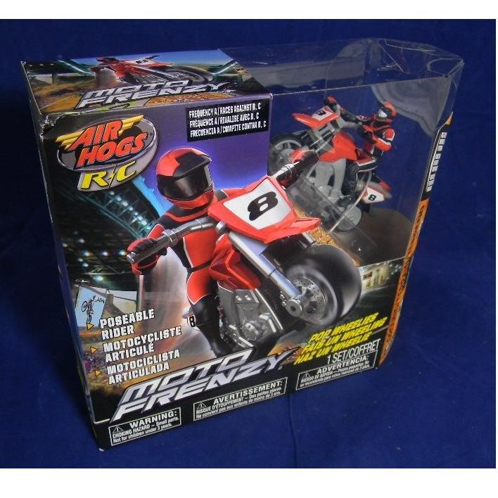 AIR HOGS R/C RADIO CONTROL MOTO FRENZY MOTORCYCLE BIKE RED 20026921