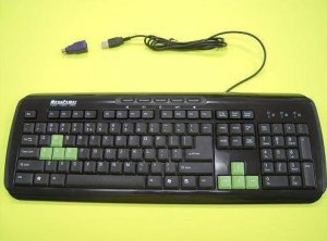 Black Color Keyboard Gaming Keys and Spill-Resistant