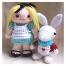 Alice in wonder land and rabbit