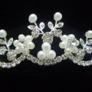 Foral Bridal Wedding Veil Preal Crystal Crown Tiara T11