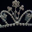 Bridal Wedding Veil Prom Party Crystal Crown Tiara T45