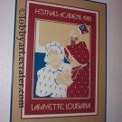 1981 Festivals Acadiens Silk Screened Festival Poster