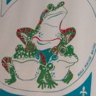 1978 Rayne Louisiana Frog Festival Silk Screened Poster