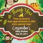 Rainforest Giraffe Monkey Baby Shower Magnet Party Favors Custom
