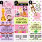 30 Diaper Fund Baby Shower Game Raffle Tickets Favors Perforated Jungle Favors