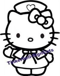 "Hello Kitty Nurse Decal Sticker 6""L x 4.5""W"