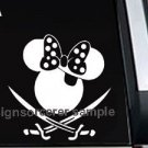 "Minnie Mouse Pirate Decal Sticker 8""L x 8""W"