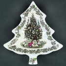 JOHNSON BROTHERS Merry Christmas Tree Dish 8 1/4""