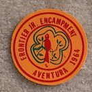 Lot 10, 1964 Frontier Jr. Encampment Aventura Patch New Condition