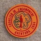 Lot 10, 1964 Frontier Jr. Encampment Aventura Patch New Condition