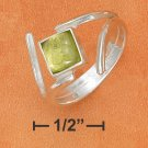 STERLING SILVER 6MM TIPPED SQUARE PERIDOT RING