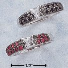 GENUINE RUBY & GENUINE SAPPHIRE SET OF TWO RINGS