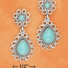 TURQUOISE POST & TEAR DROP TURQUOISE DANGLE EARRINGS