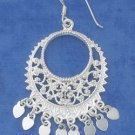 STERLING SILVER BALI FILIGREE CIRCLE EARRINGS