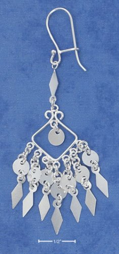 STERLING SILVER FANCY SCROLLED WIRE BALI DANGLES